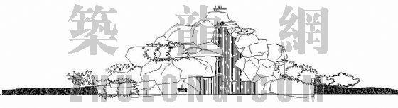 跌水假山结构施工图