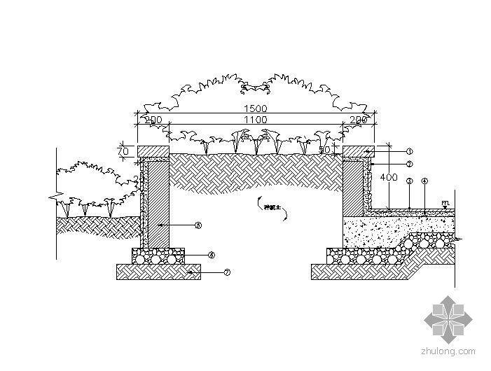 特色方形树池施工大样图2