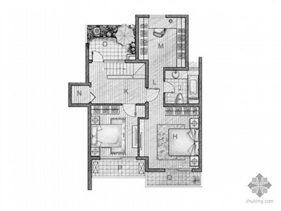 三室两厅户型平面图(127)