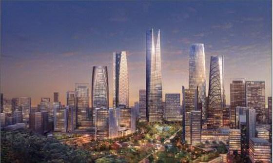Sasaki与SOM共四套方案同时竞标济南CBD景观设计
