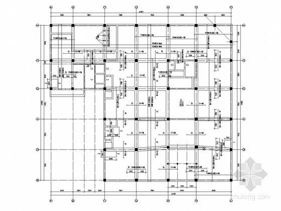 六层框剪结构接待站结构施工图(筏形基础)