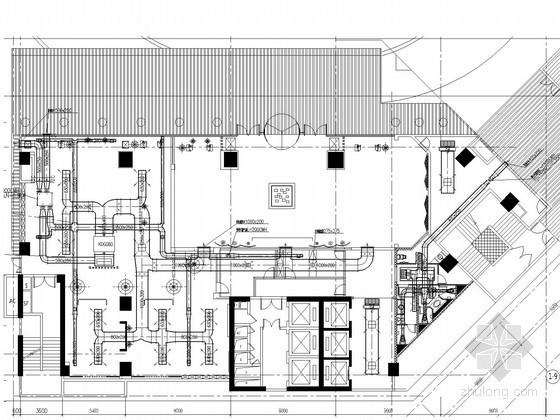 [广东]大型综合超市空调通风系统设计施工图(风冷热泵冷水机组)
