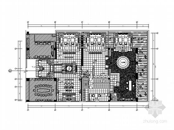 [福州]豪华四星级酒店会所设计施工图(含实景图)