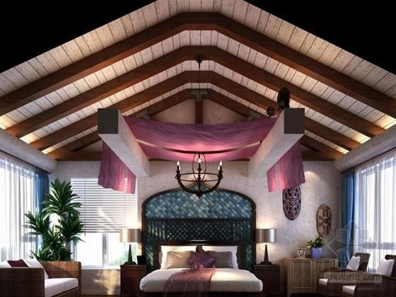 地中海风卧室3d模型下载