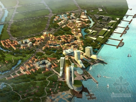 [上海]滨海渔港特色城市规划设计方案文本(知名设计院)