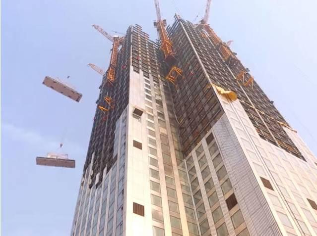 中国速度惊呆美国人:57层高楼19天建成!