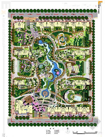 郑州国际居住区全套景观概念性文本(手绘)
