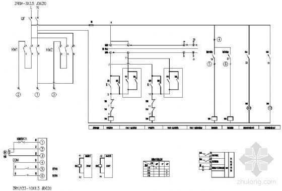 电动蝶阀控制箱原理图