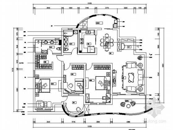 [上海]178平欧式田园四室两厅装修图(含效果)