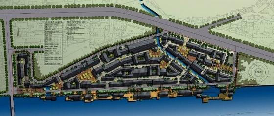 [湖南]风情古街景观规划设计方案-总平面图