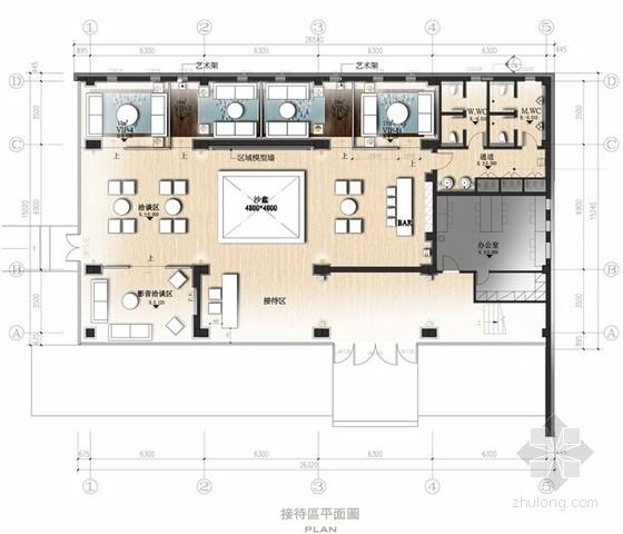 [江苏]雅致新中式风格售楼处室内设计方案