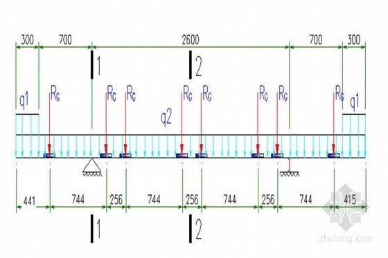 工型梁桥下部结构盖梁及桩基计算(桩柱式盖梁 空心板梁)