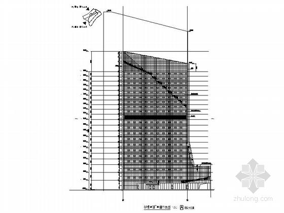 [福建]113米现代风格全球连锁知名酒店建筑-21层现代风格全球连锁知名酒店立面图
