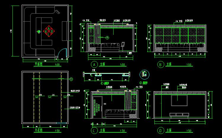 300多套CAD装修施工图纸(家装,工装,节点等)_11