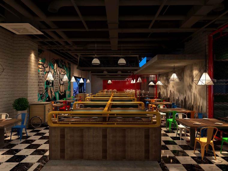 喵星人主题餐厅成套3D模型(附效果图)