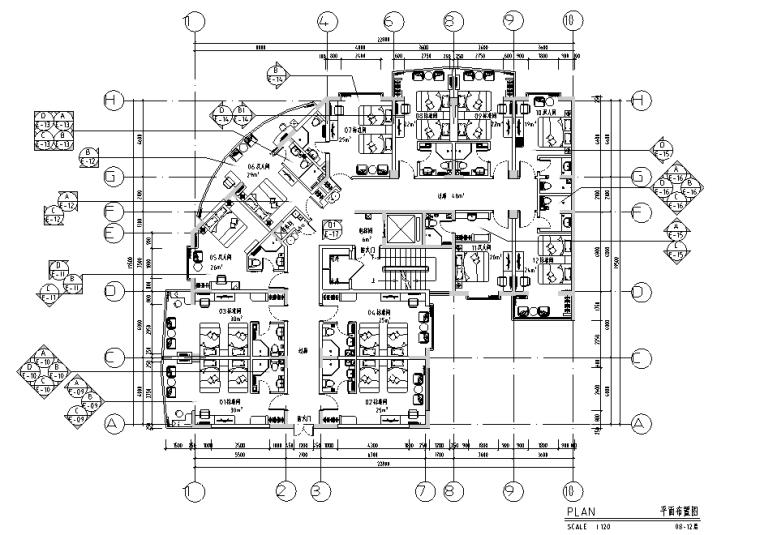 [河北]某酒店客房施工图全套(含效果图)
