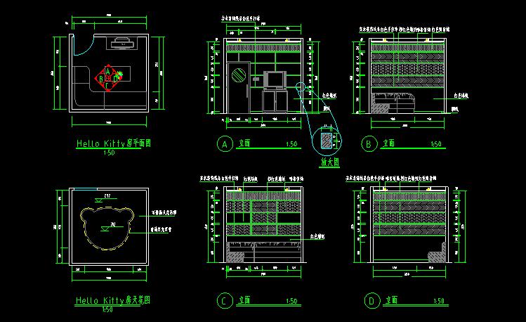 300多套CAD装修施工图纸(家装,工装,节点等)_13