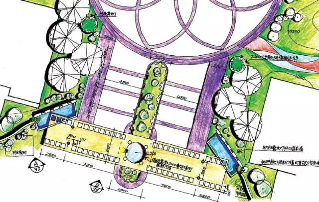 送你哒~100款入口景观设计平面图!!_67