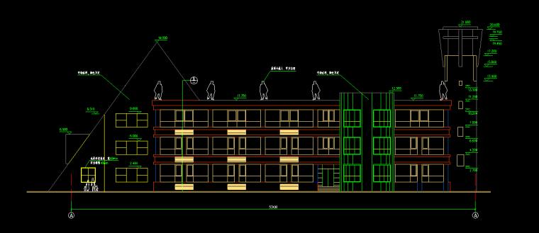 3层2528平米幼儿园建筑初步设计图