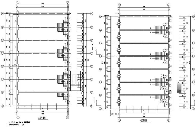 欧式多层沿街商铺建筑设计方案初设图CAD-2