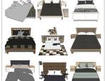 57套北欧风格SU模型[床铺]