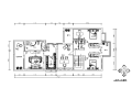 [湖南]简欧风格别墅设计CAD施工图(含效果图)