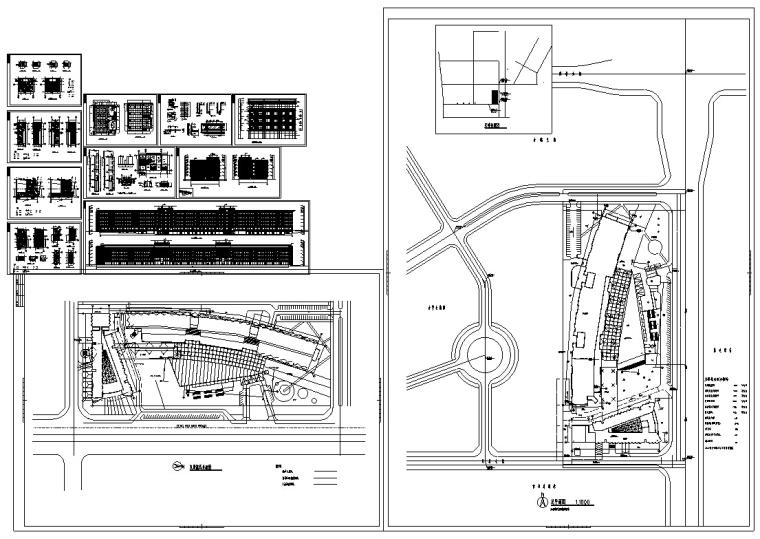 3套现代宾馆酒店建筑设计施工图CAD_18