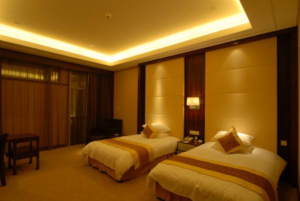 绍兴五星级园林酒店施工图(含实景)-高级双床间实景图