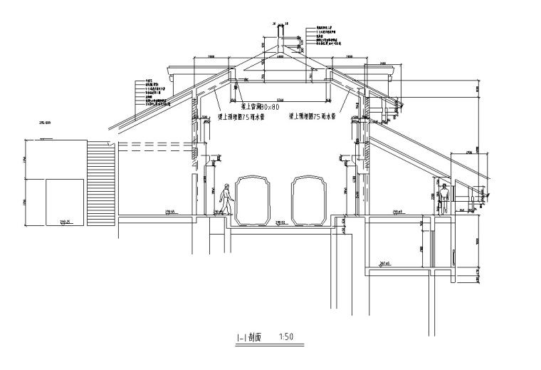 山顶缆车配套茶室建筑设计方案施工图CAD-2