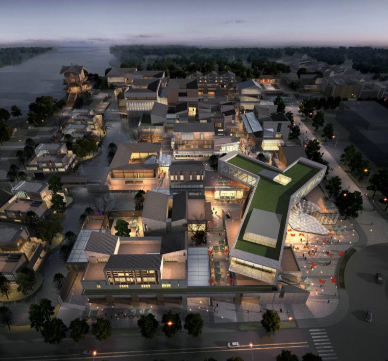 现代主义风格,3层商业街街模型最终设计(SU模型)-索引图022