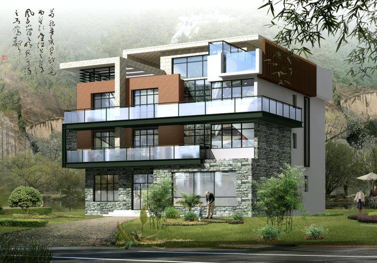 新农村中式三层独栋别墅建筑设计施工图