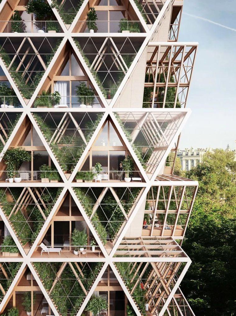 拥有独立生态系统的大楼-城市中的垂直农场_9