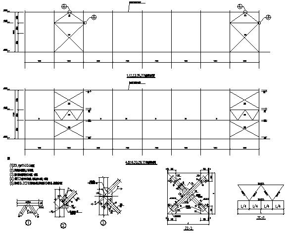 70X193m门式刚架结构厂房钢结构施工图(CAD,整套)