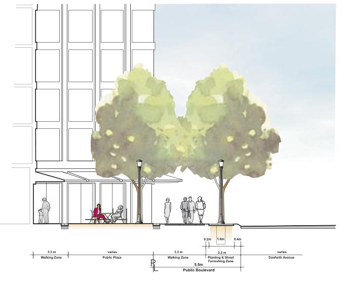 多伦多丹佛斯大街设计方案(英文)(PDF+88页)-道路剖面