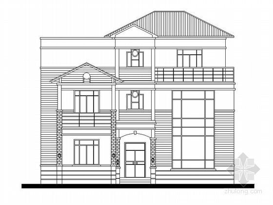 某三层别墅建筑扩初图(含效果图)