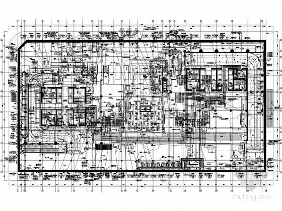 [江苏]超高层双子塔楼暖通空调全套施工图纸(冰蓄冷 空调自控 绿色建筑)