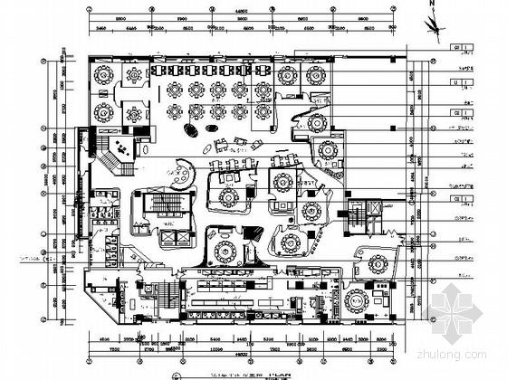[湖南]现代风格餐厅公共空间装修施工图(含实景)