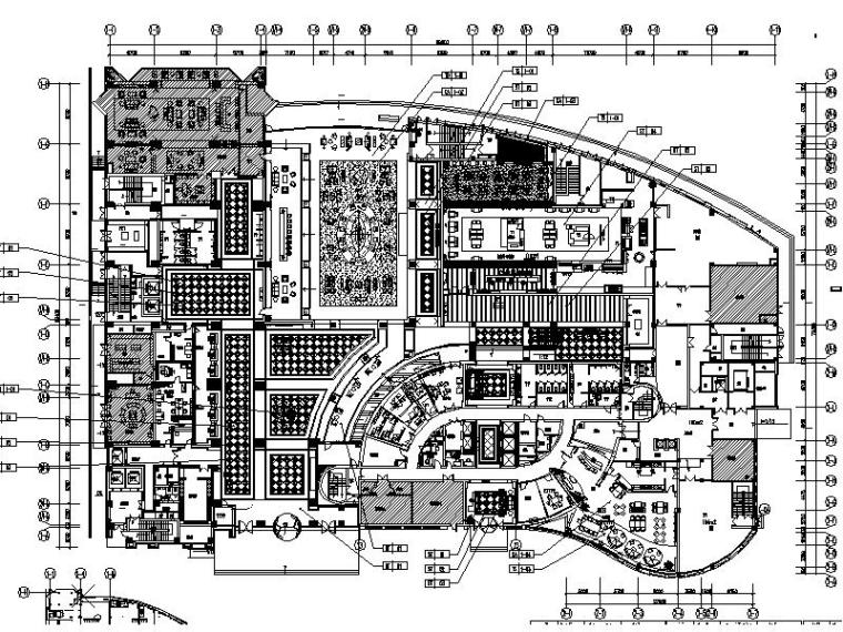 [合肥]包河区新升级5星大饭店室内设计施工图(含材料表)