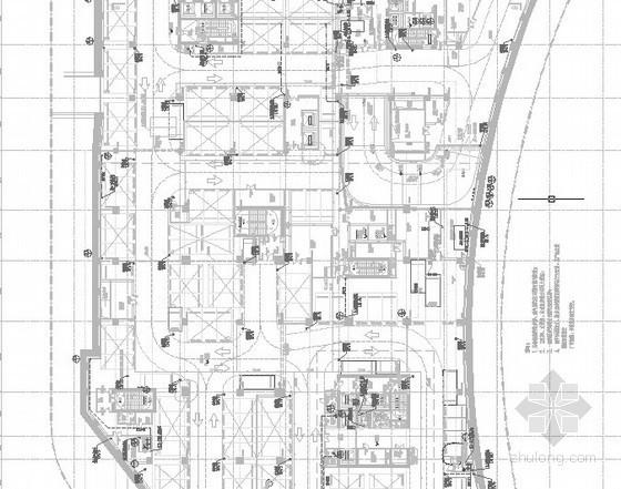 [上海]地标性国际服务中心北区给排水消防施工图(中水回收 景观给排水 高压细  水雾)