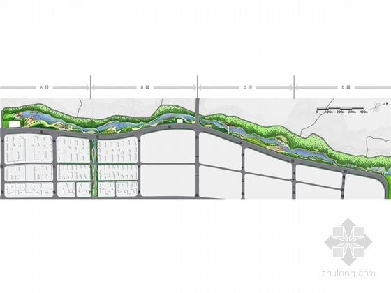 [舟山]城市水系景观带二期概念深化设计方案(附设计说明、苗木概算)