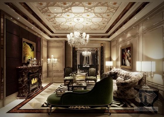 [温州]低调奢华欧式风格四居室样板间装修图(含效果)主卧立面图