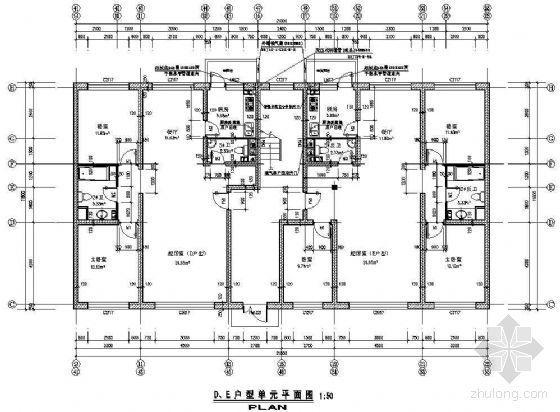 某板式住宅户型平面