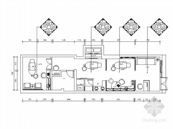 [南京]现代专业牙科诊所室内装修施工图(含效果)