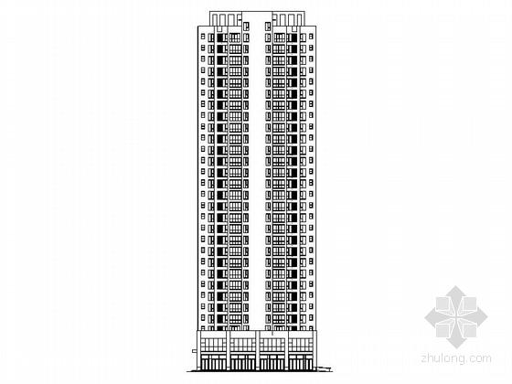[西安]现代高层塔式住宅带底商建筑施工图