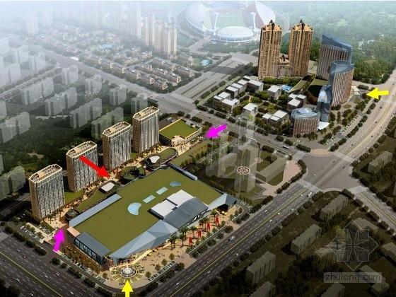 [福建]现代城市娱乐休闲商业区景观设计方案