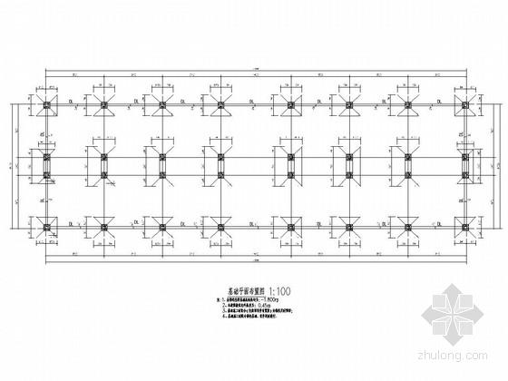 [河南]地上三层门式刚架车间厂房结构施工图