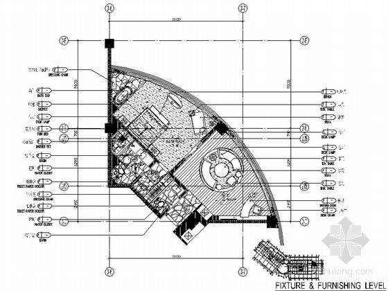 [福建]滨海地带国际游艇会所客房室内装修设计施工图(含效果)