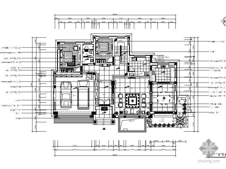 中式风格豪宅装修施工图