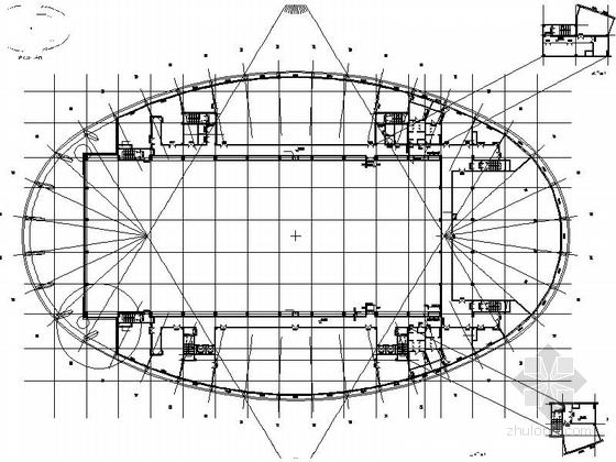 4层多功能现代风格体育中心设计平面图