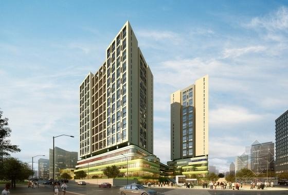 """[贵阳]""""绿谷""""体验式生态主题城市综合体建筑设计方案文本-体验式生态主题城市综合体效果图"""